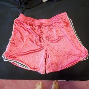 Nike size XL pink dri fit mesh shorts